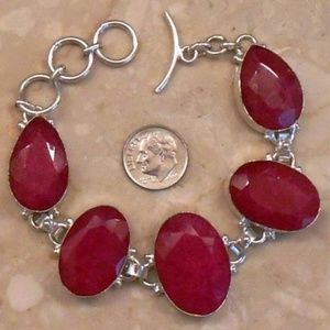 Jewelry - REAL RUBY adjustable sterling bracelet SJ830-07